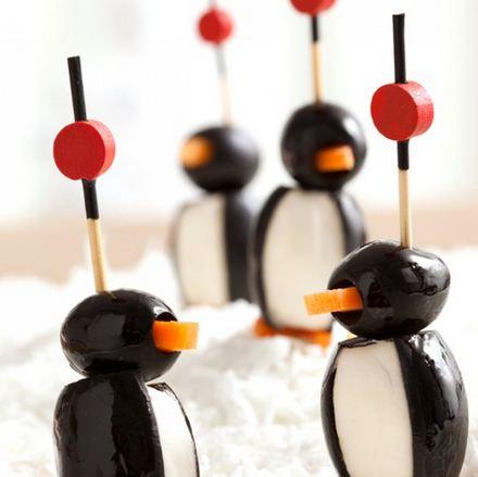 Antipasti Di Natale Semplici E Sfiziosi.Ricette Antipasti Natalizi Sfiziosi Pinguini Di Formaggio E Olive