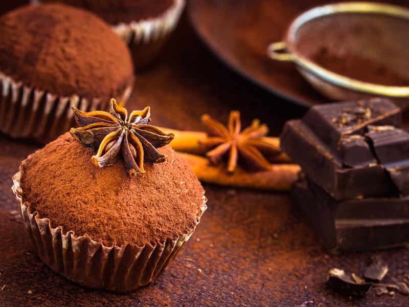 Muffin al cioccolato e cannella